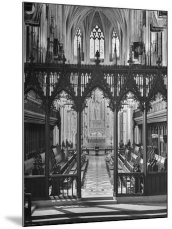 An Interior View of the National Cathedral--Mounted Photographic Print