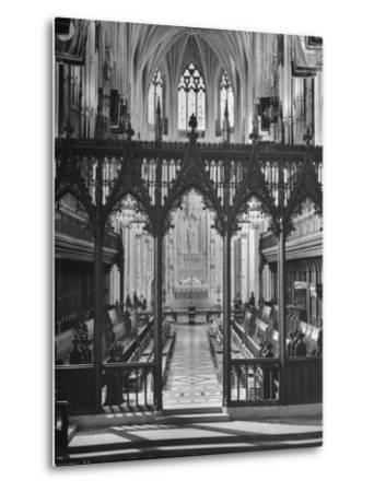 An Interior View of the National Cathedral--Metal Print