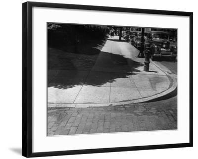 Street Corner in Neighborhood of Mayo Clinic Designed for Wheelchair Accessibility--Framed Photographic Print