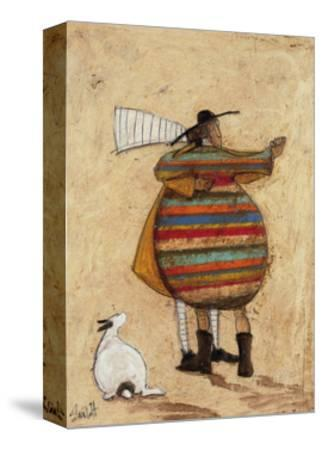 Dancing Cheek To Cheeky-Sam Toft-Stretched Canvas Print