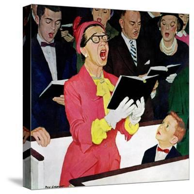 """""""Singing Praise"""", March 7, 1959-Richard Sargent-Stretched Canvas Print"""