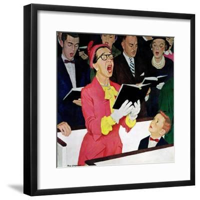 """Singing Praise"", March 7, 1959-Richard Sargent-Framed Giclee Print"