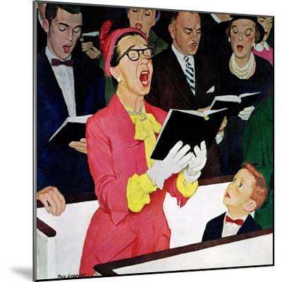 """Singing Praise"", March 7, 1959-Richard Sargent-Mounted Giclee Print"