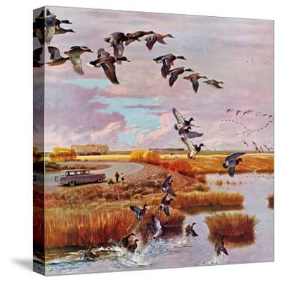 """""""South for the Winter"""", October 26, 1957-John Clymer-Stretched Canvas Print"""