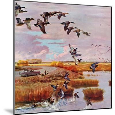 """""""South for the Winter"""", October 26, 1957-John Clymer-Mounted Giclee Print"""