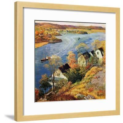 """""""Gloucester Harbor"""", November 14, 1959-John Clymer-Framed Giclee Print"""