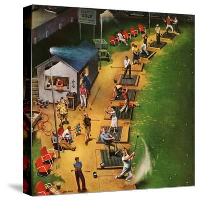 """Golf Driving Range"", July 26, 1952-John Falter-Stretched Canvas Print"