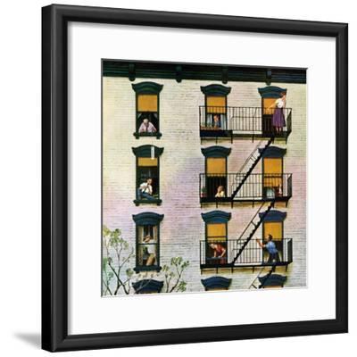 """Apartment Clarinetist"", April 19, 1958-John Falter-Framed Premium Giclee Print"