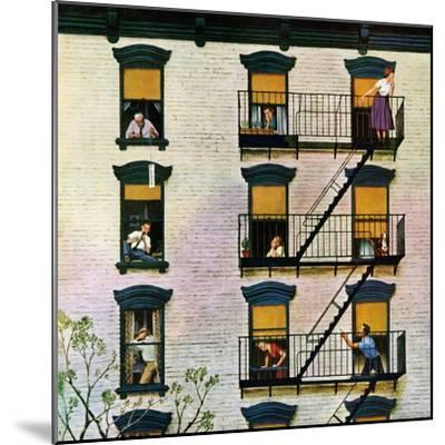 """Apartment Clarinetist"", April 19, 1958-John Falter-Mounted Premium Giclee Print"