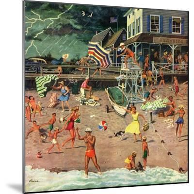 """""""Thunderstorm at the Shore"""", July 10, 1954-Ben Kimberly Prins-Mounted Premium Giclee Print"""