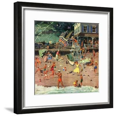 """""""Thunderstorm at the Shore"""", July 10, 1954-Ben Kimberly Prins-Framed Premium Giclee Print"""