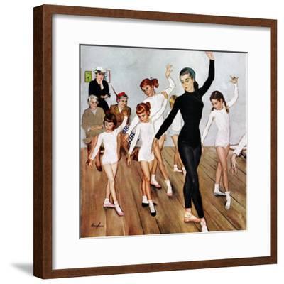 """Ballet Class"", November 3, 1956-George Hughes-Framed Giclee Print"