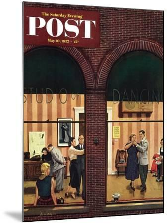 """""""Dancing Class"""" Saturday Evening Post Cover, May 10, 1952-Stevan Dohanos-Mounted Giclee Print"""