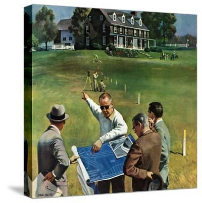 """""""Imminent Domain"""", July 18, 1959-John Falter-Stretched Canvas Print"""