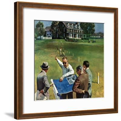 """""""Imminent Domain"""", July 18, 1959-John Falter-Framed Giclee Print"""