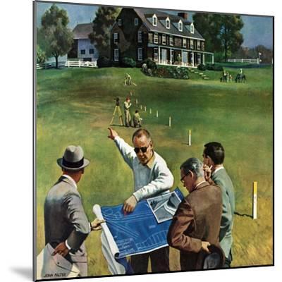 """Imminent Domain"", July 18, 1959-John Falter-Mounted Giclee Print"