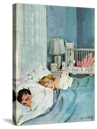 """""""Who's Turn?"""", January 21, 1950-M^ Coburn Whitmore-Stretched Canvas Print"""