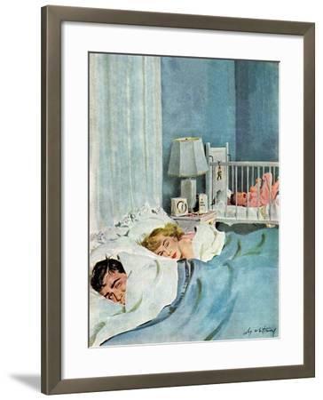 """Who's Turn?"", January 21, 1950-M^ Coburn Whitmore-Framed Giclee Print"