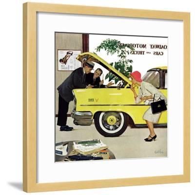 """Checking it Out"", November 15, 1958-Kurt Ard-Framed Giclee Print"