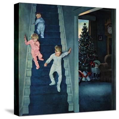 """Christmas Morning"", December 24, 1955-John Falter-Stretched Canvas Print"