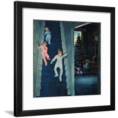 """""""Christmas Morning"""", December 24, 1955-John Falter-Framed Premium Giclee Print"""