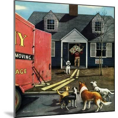 """""""New Dog in Town"""", March 21, 1953-Stevan Dohanos-Mounted Giclee Print"""