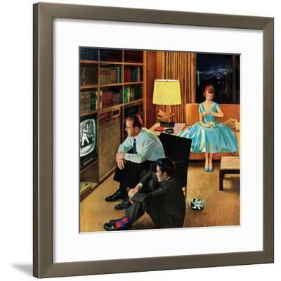 """Date with the Television"", April 21, 1956-John Falter-Framed Giclee Print"