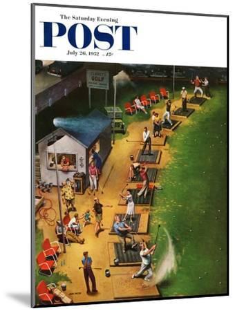 """Golf Driving Range"" Saturday Evening Post Cover, July 26, 1952-John Falter-Mounted Premium Giclee Print"