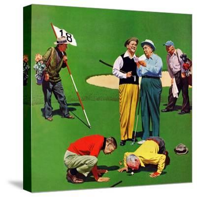 """""""Eighteenth Hole"""", August 6, 1955-John Falter-Stretched Canvas Print"""