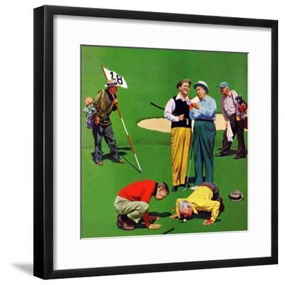 """""""Eighteenth Hole"""", August 6, 1955-John Falter-Framed Giclee Print"""