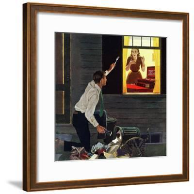 """Finding the Fork"", October 3, 1959-George Hughes-Framed Giclee Print"