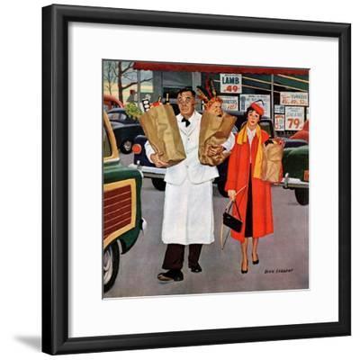 """Sack Full of Trouble"", April 14, 1956-Richard Sargent-Framed Giclee Print"
