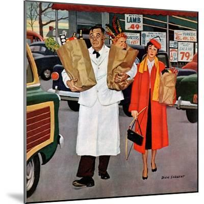 """""""Sack Full of Trouble"""", April 14, 1956-Richard Sargent-Mounted Giclee Print"""
