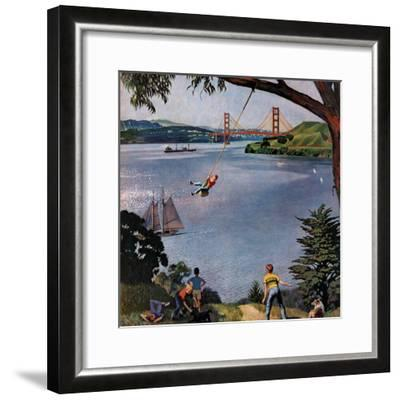 """San Francisco Bay Boys"", May 26, 1956-John Falter-Framed Premium Giclee Print"