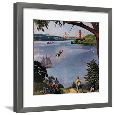 """San Francisco Bay Boys"", May 26, 1956-John Falter-Framed Giclee Print"