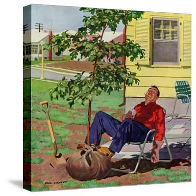 """""""Shade Tree"""", April 12, 1958-Richard Sargent-Stretched Canvas Print"""