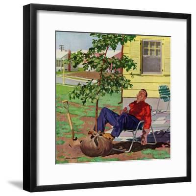 """Shade Tree"", April 12, 1958-Richard Sargent-Framed Giclee Print"
