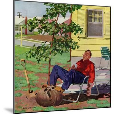 """Shade Tree"", April 12, 1958-Richard Sargent-Mounted Giclee Print"