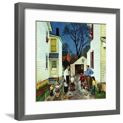 """Shaking Hands after the Fight"", May 5, 1951-John Falter-Framed Giclee Print"
