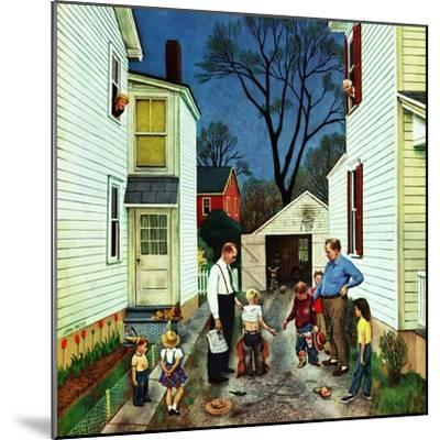 """Shaking Hands after the Fight"", May 5, 1951-John Falter-Mounted Giclee Print"