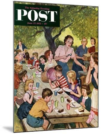 """""""Out of Ice Cream"""" Saturday Evening Post Cover, June 27, 1953-Amos Sewell-Mounted Giclee Print"""