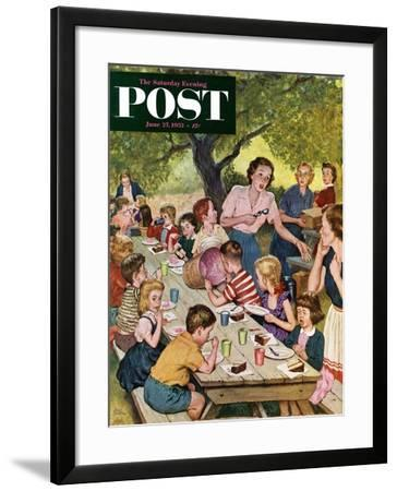 """""""Out of Ice Cream"""" Saturday Evening Post Cover, June 27, 1953-Amos Sewell-Framed Giclee Print"""