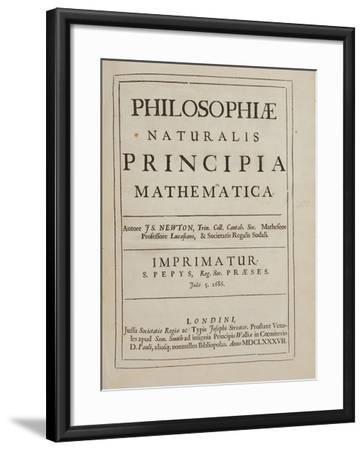 Philosophiae Naturalis Principia Mathematica Giclee Print by Sir Isaac  Newton | Art com