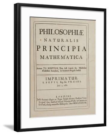 Philosophiae Naturalis Principia Mathematica Giclee Print by Sir Isaac  Newton   Art com