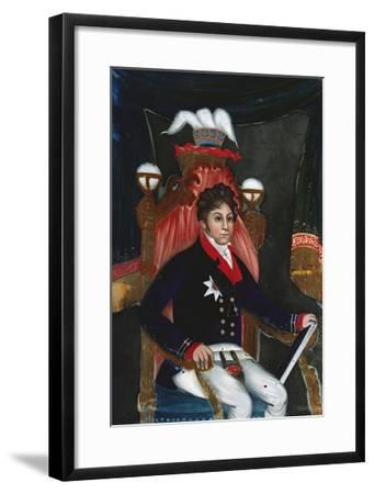 An Anglo Chinese Reverse Glass Painting of George Iv as Prince Regent--Framed Giclee Print