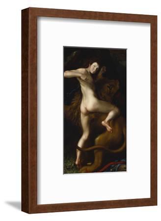 Cupid Taming a Lion-Bartholomaus Spranger (Follower of)-Framed Premium Giclee Print