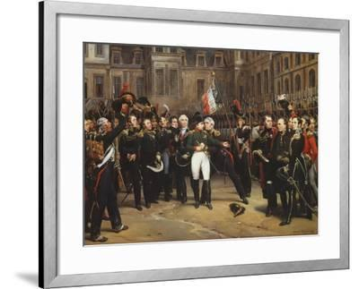 The Farewells of Fontainebleau, 20th April 1814-Horace Vernet-Framed Giclee Print