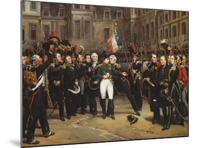 The Farewells of Fontainebleau, 20th April 1814-Horace Vernet-Mounted Giclee Print