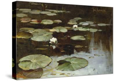 Water Lilies-Julius Sergius Klever-Stretched Canvas Print
