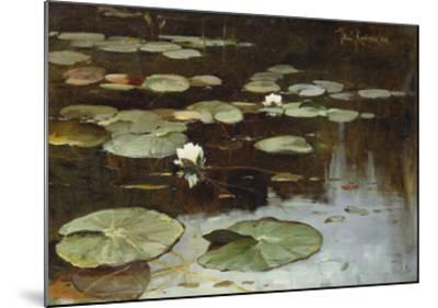 Water Lilies-Julius Sergius Klever-Mounted Giclee Print